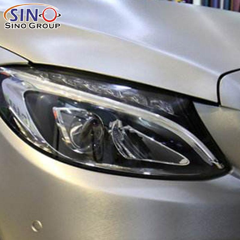 CARLIKE CL-CB Envoltura de aluminio cepillado del coche del vinilo de la decoración de Chrome Metallic
