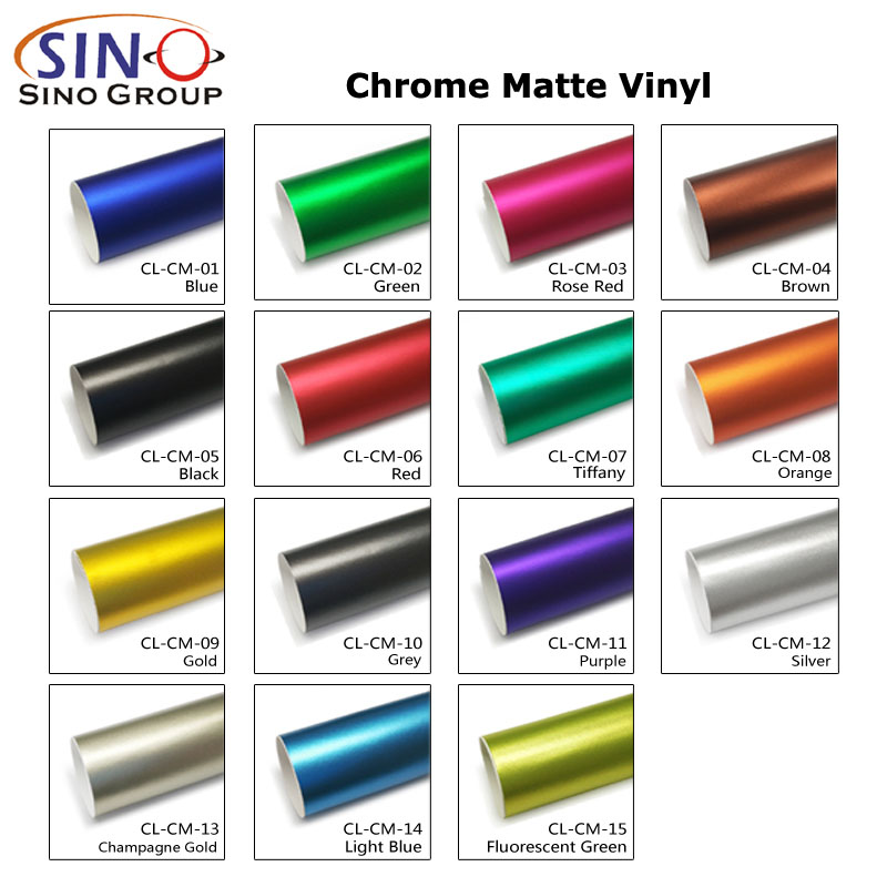 CARLIKE CL-CM Matte Chrome Car Body Vinyl Wrap