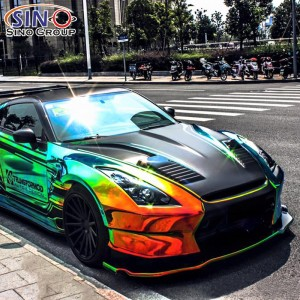 CL-CR Chrome Rainbow Holographic Vehicle Car Wrap Vinyl Sticker