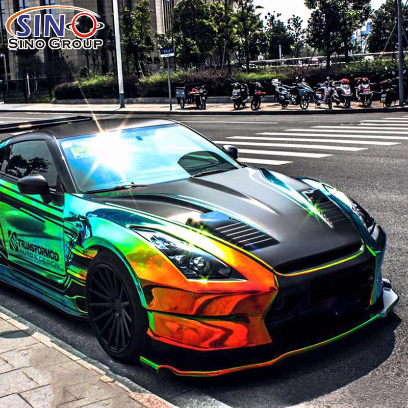 CARLIKE CL-CR Chrome Rainbow Holographic Vehicle Car Wrap Vinyl Sticker
