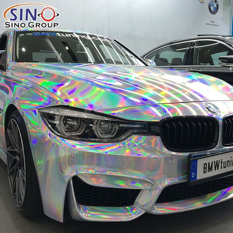 CARLIKE CL-LS Laser Chrome Holographic Rainbow Vinyl For Car Whole Body Wrapping