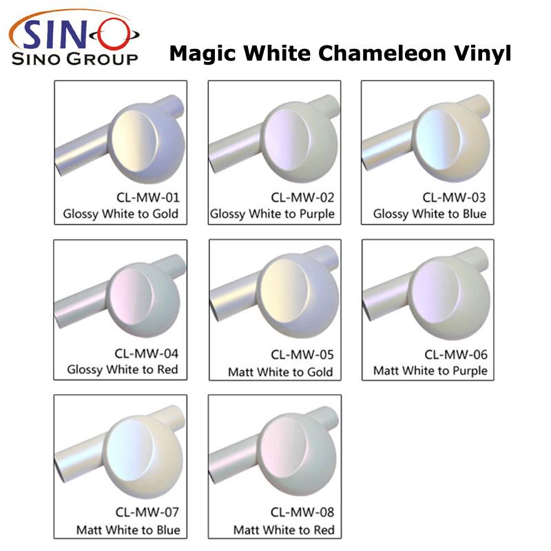 CL-MW Chamäleon-Magie Weiß Autoverpackungs-Vinylfolie