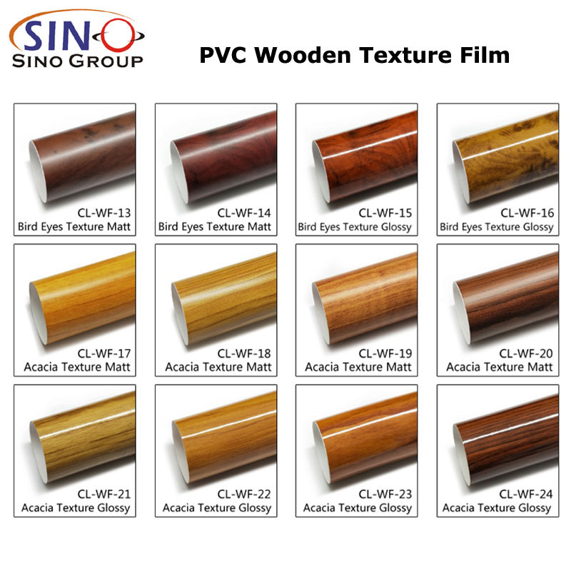 CARLIKE CL-WF Wooden Texture Glossy Car Body Vinyl Film