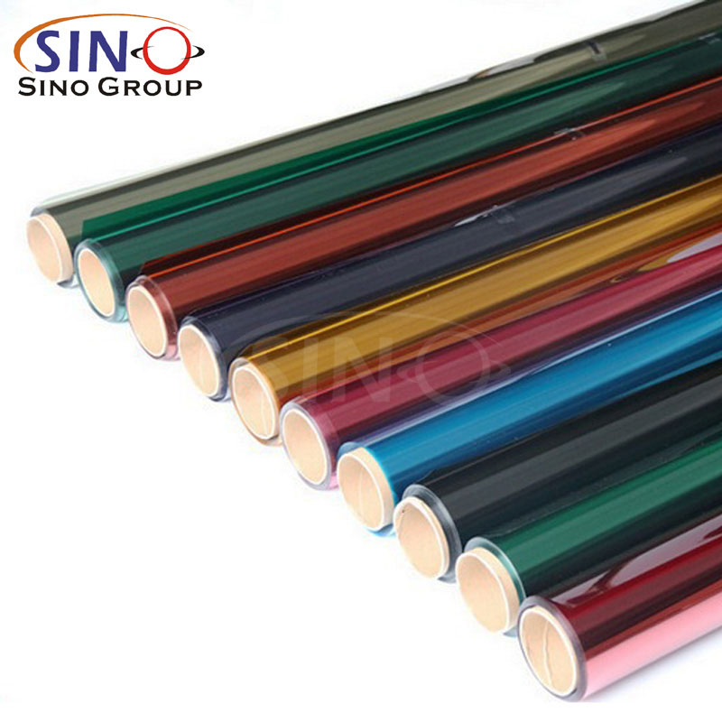 Translucent Colored Building Window Glass Tint Film Sino