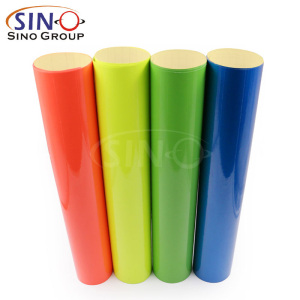 Fluorescent PVC Color Self Adhesive Vinyl Film
