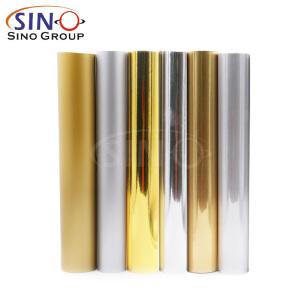 Krom Metal PET PVC Altın Gümüş Renkli Vinil Film Kesme