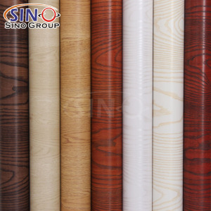 Pvc Wood Grain Texture Decoration Self Adhesive Vinyl Film