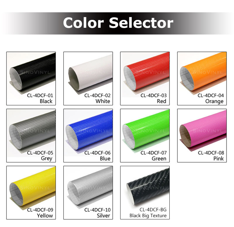 CARLIKE CL-4DCF Super Gloss 4D Carbon Fiber Vinyl Film