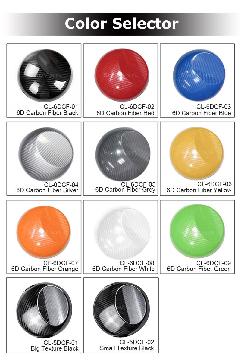 CARLIKE CL-6DCF Vinyle en fibre de carbone super brillant 6D