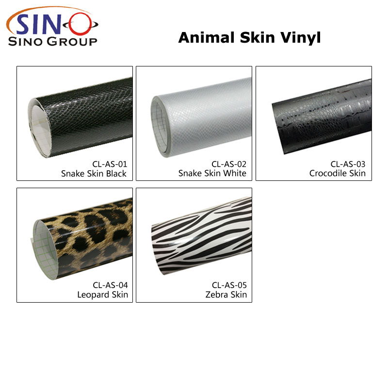CARLIKE CL-AS Pegatinas para envolver coches de vinilo de piel animal