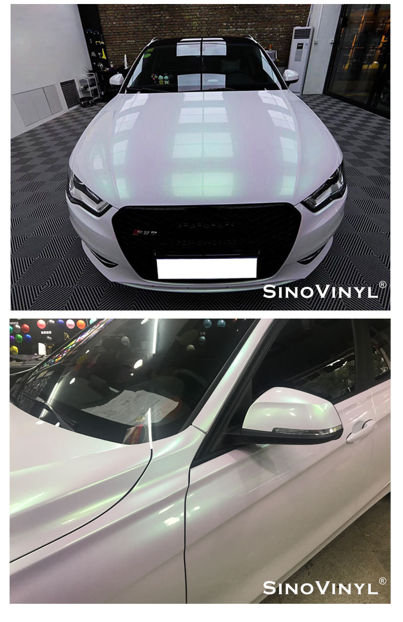 CARLIKE CL-AW Aurora White Car Body Sticker Vinyl Film