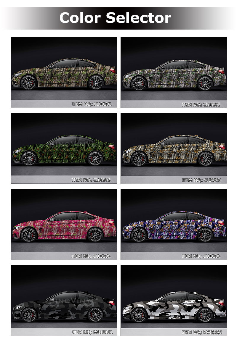 CARLIKE CL-CA Camouflage Sticker Car Body Vinyl Film