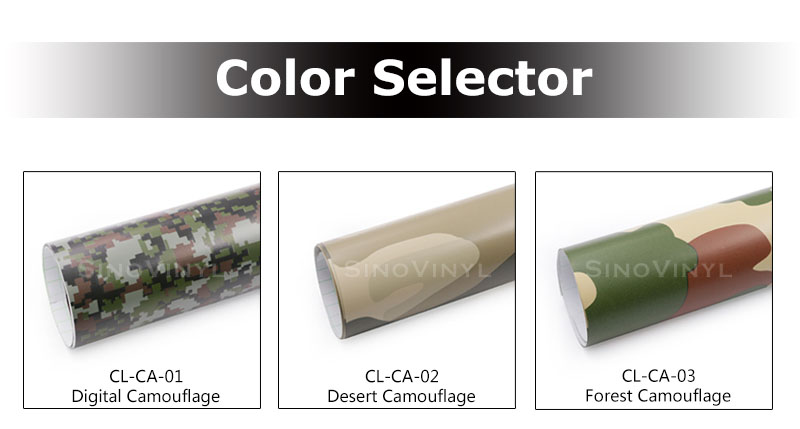 CARLIKE CL-CA Mehrere Farben Gedruckt Tarnen Vinyls