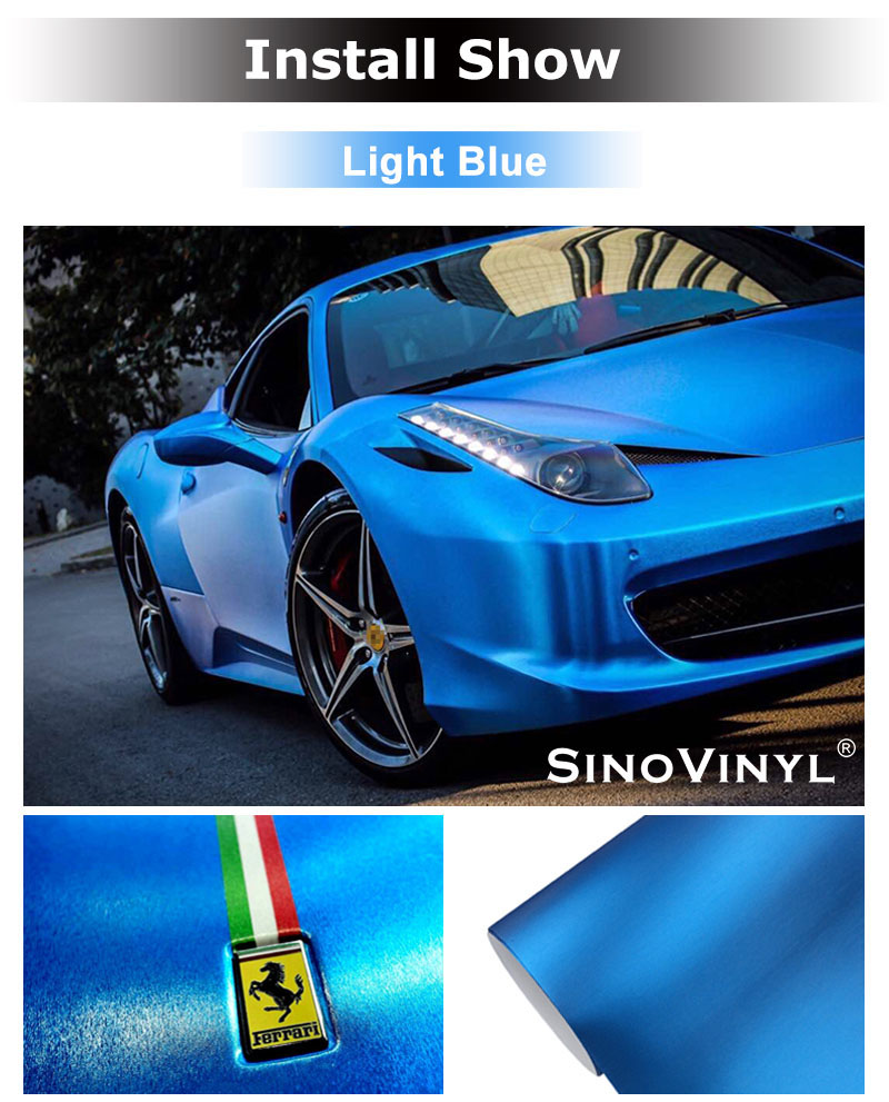 CARLIKE CL-CB Chrome Metallic Aluminum Brushed Decoration Vinyl Car Wrap