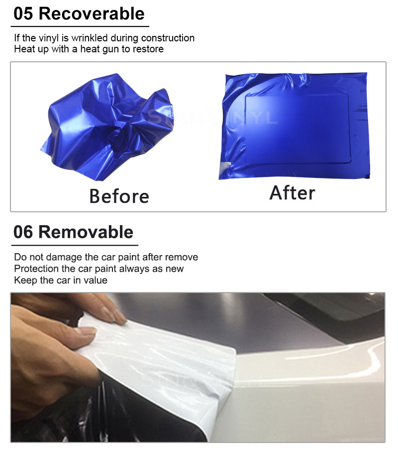 CARLIKE Premium+ Car Wrapping Vinyl Product Advantage 3
