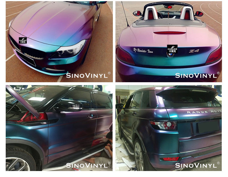 CARLIKE CL-CV Chameleon Color Changing Vinyl Wrap Car