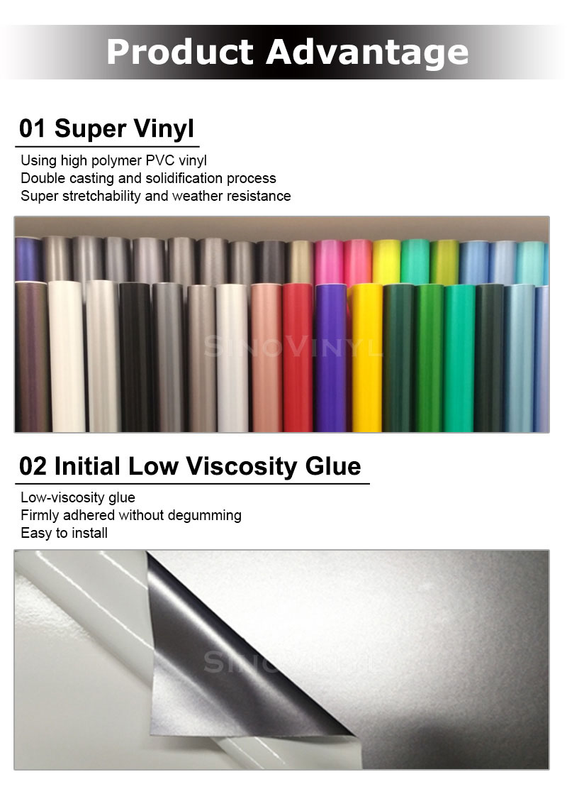 CARLIKE Premium+ Car Wrapping Vinyl Product Advantage 1
