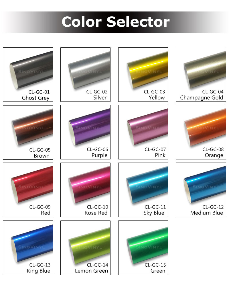 CARLIKE CL-CC Chameleon Super Gloss Candy Car Wrapping Vinyl Film