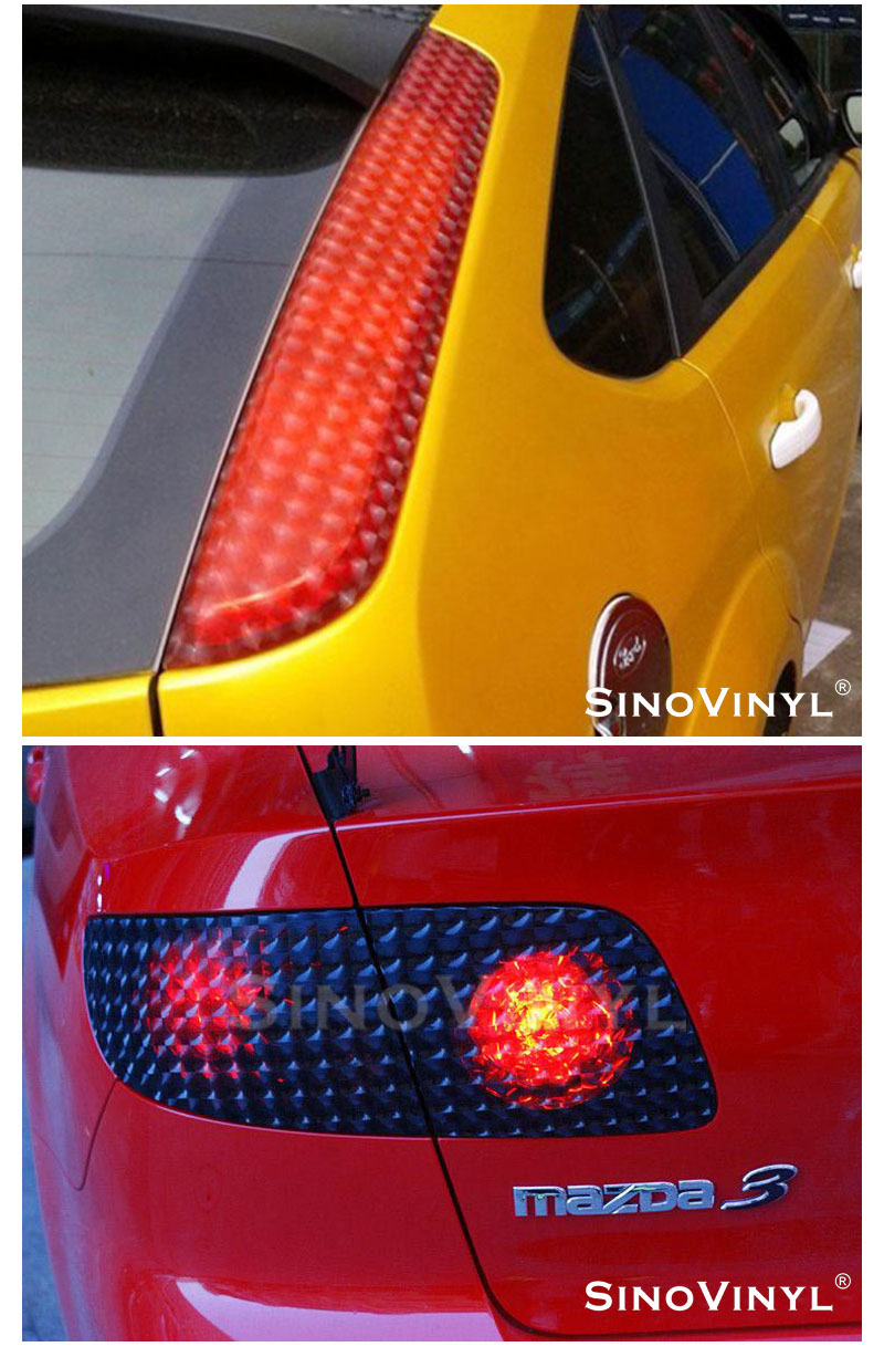 CARLIKE CL-HL-3D 3D Lens Cat Eyes Car Headlight Tint Sticker Film