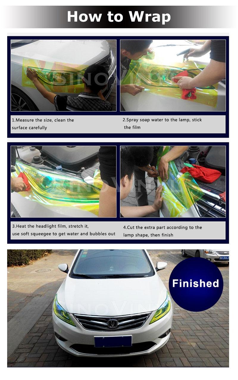 Película do matiz do Taillight do farol do carro do brilho de CARLIKE CL-HL-GL