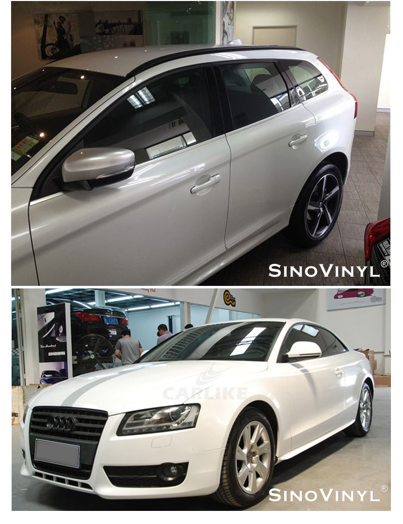 CARLIKE CL-PW Gloss Matte Pearlescent White Car Vinyl