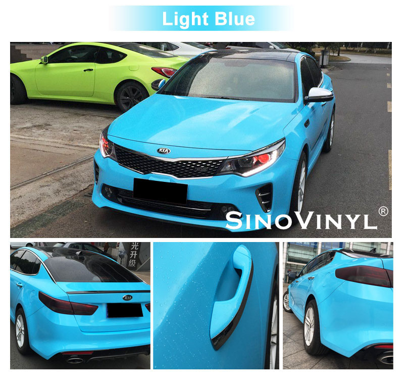 CARLIKE CL-SV Super Gloss Crystal Vinyl Car Wrap Film