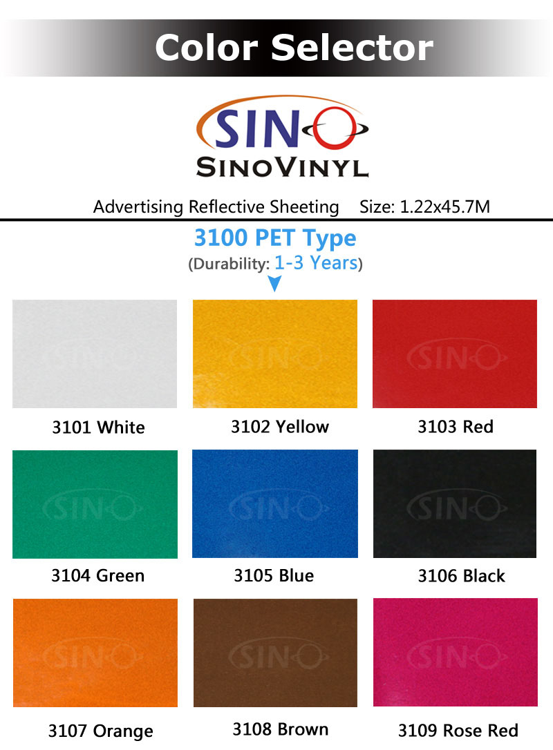 3100 PET Advertising Grade Reflective Sheeting