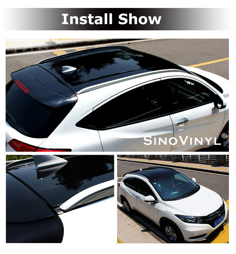 CARLIKE CL-SR Super Gloss Black Sunroof Vinyl Film