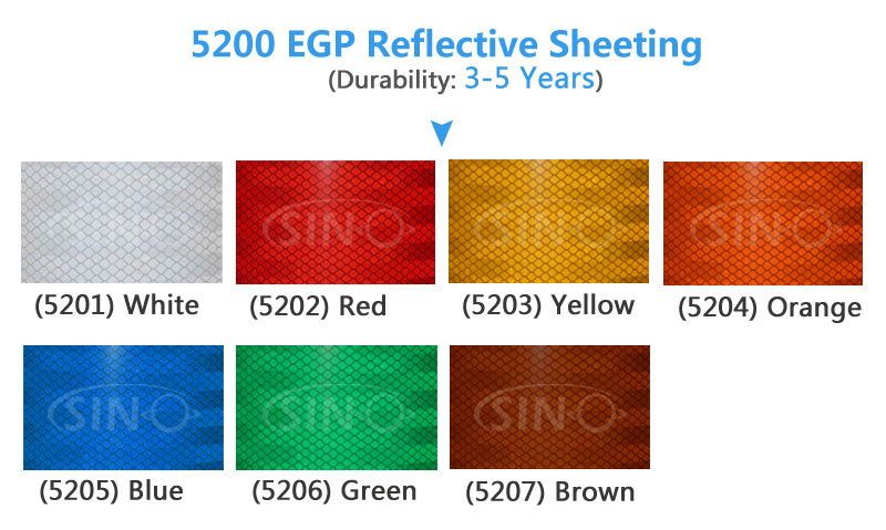 5300 HIP High Intensity Grade Honeycomb Pattern Reflective Sheeting