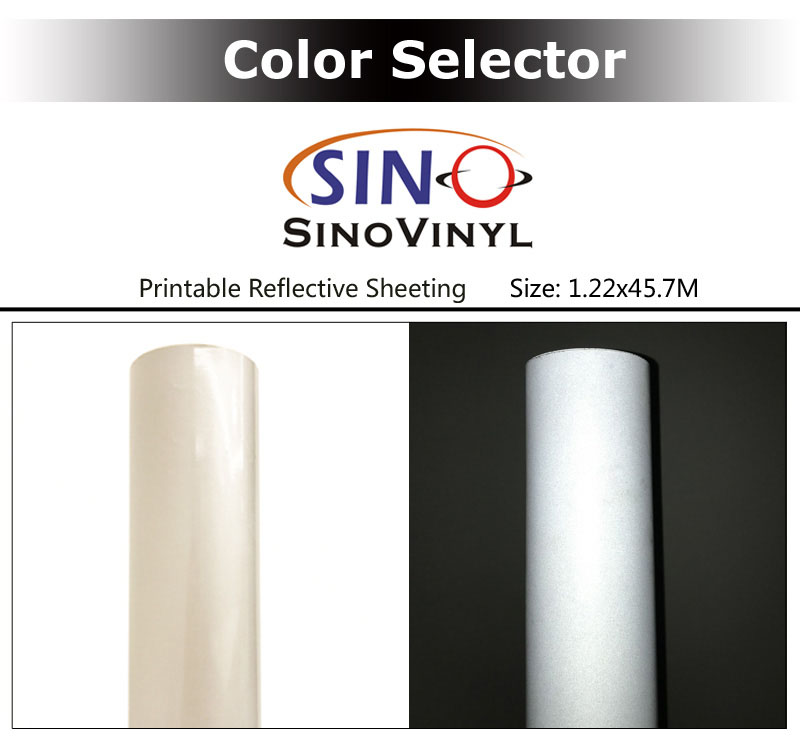 Eco Solvent Printing White Reflective Sheeting