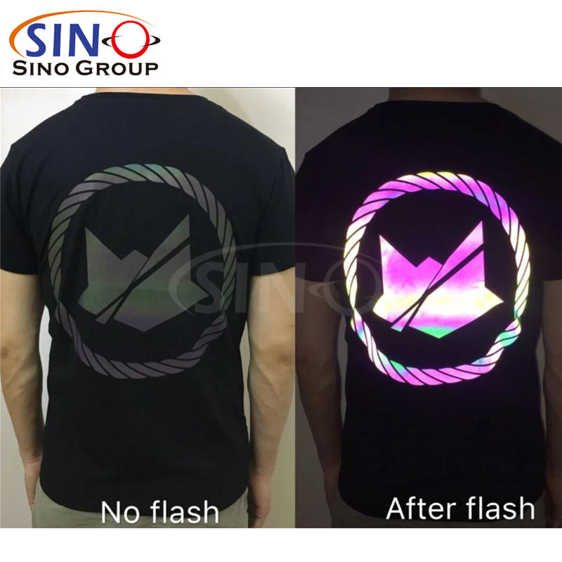 Rainbow Flash Reflective Heat Transfer Vinyl Colorful HTV