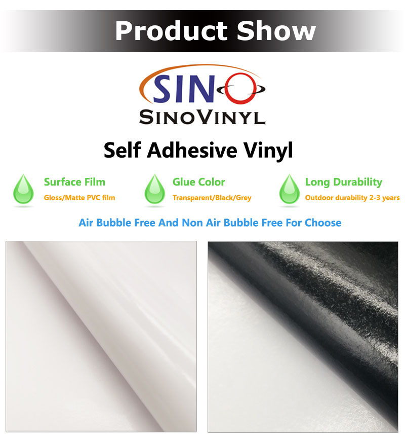 White Glue SAV 120G 140G 160G Graphic Printing PVC Self Adhesive Vinyl Film