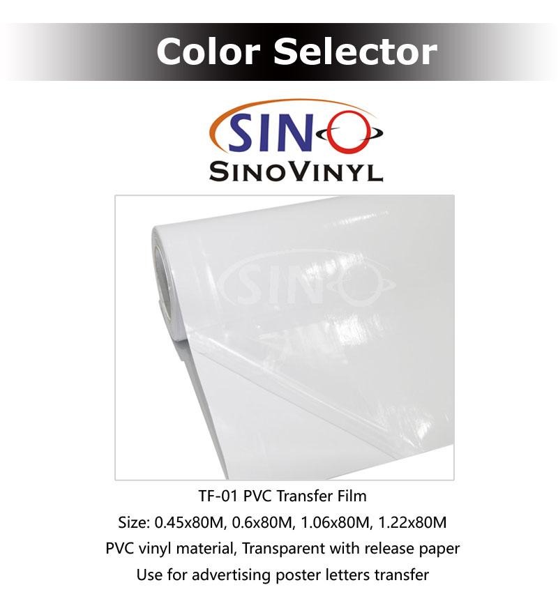 Anwendung Transferfilm für Farbe PVC Vinyl schneiden