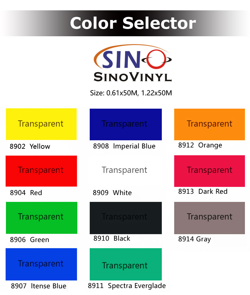 Translucent Vinyl Self Adhesive Signboard Film