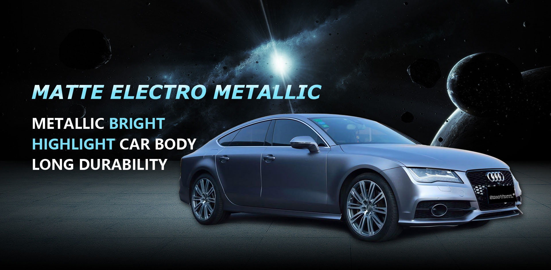 CARLIKE CL-EM Matte Electro Metallic Vinyl Car Wrap