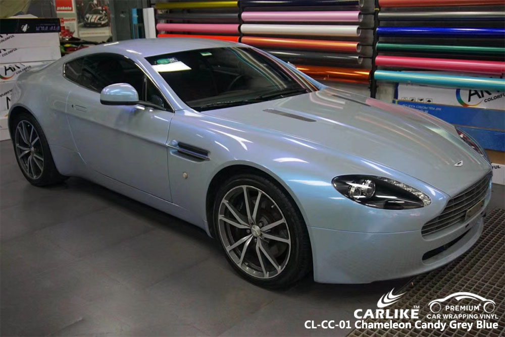 CARLIKE CL-CC-01 CHAMELEON CANDY GREY BLUE CAR WRAP VINYL