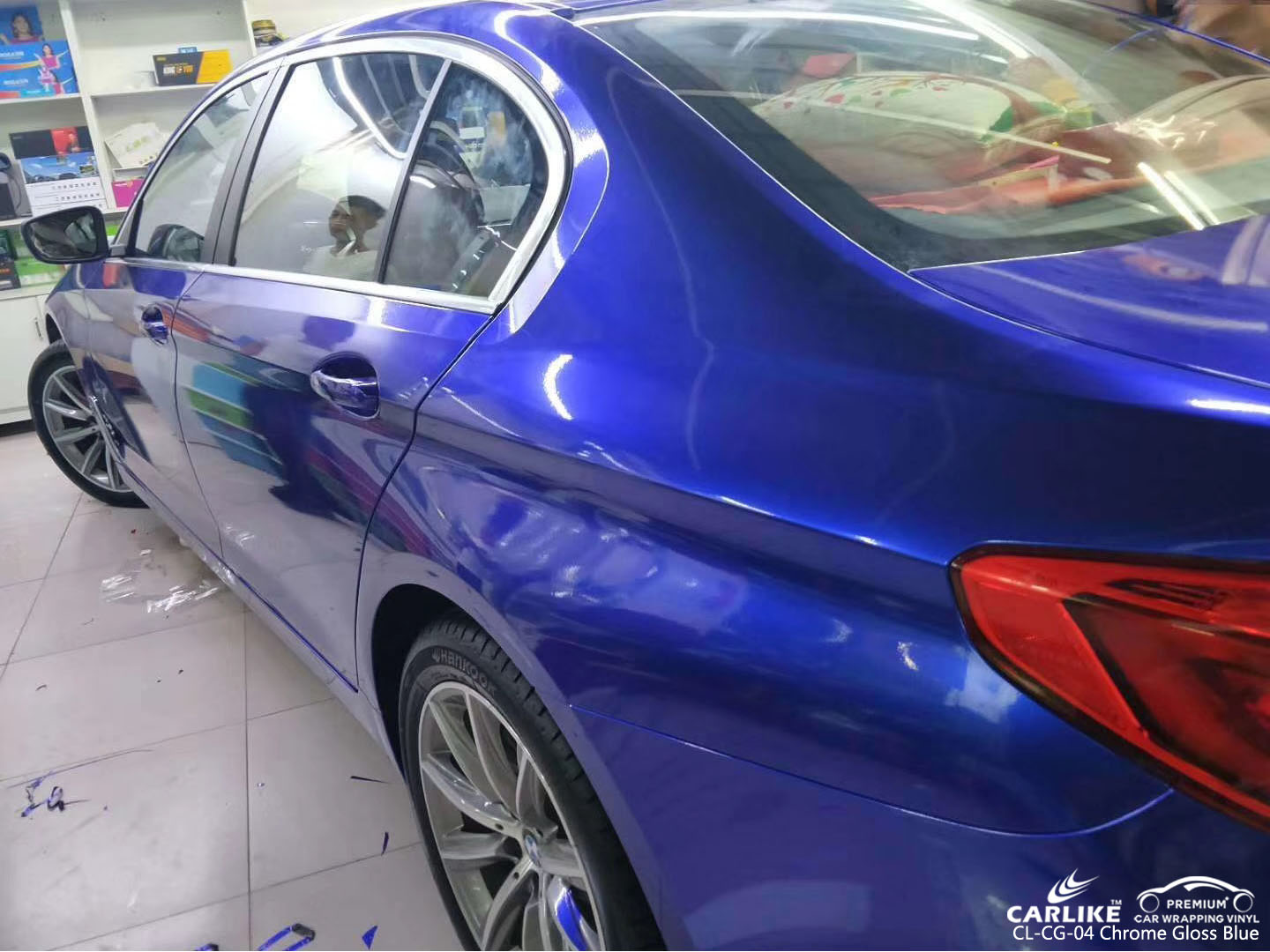 CARLIKE CL-CG-04 CHROME GLOSS BLUE CAR WRAPPING VINYL