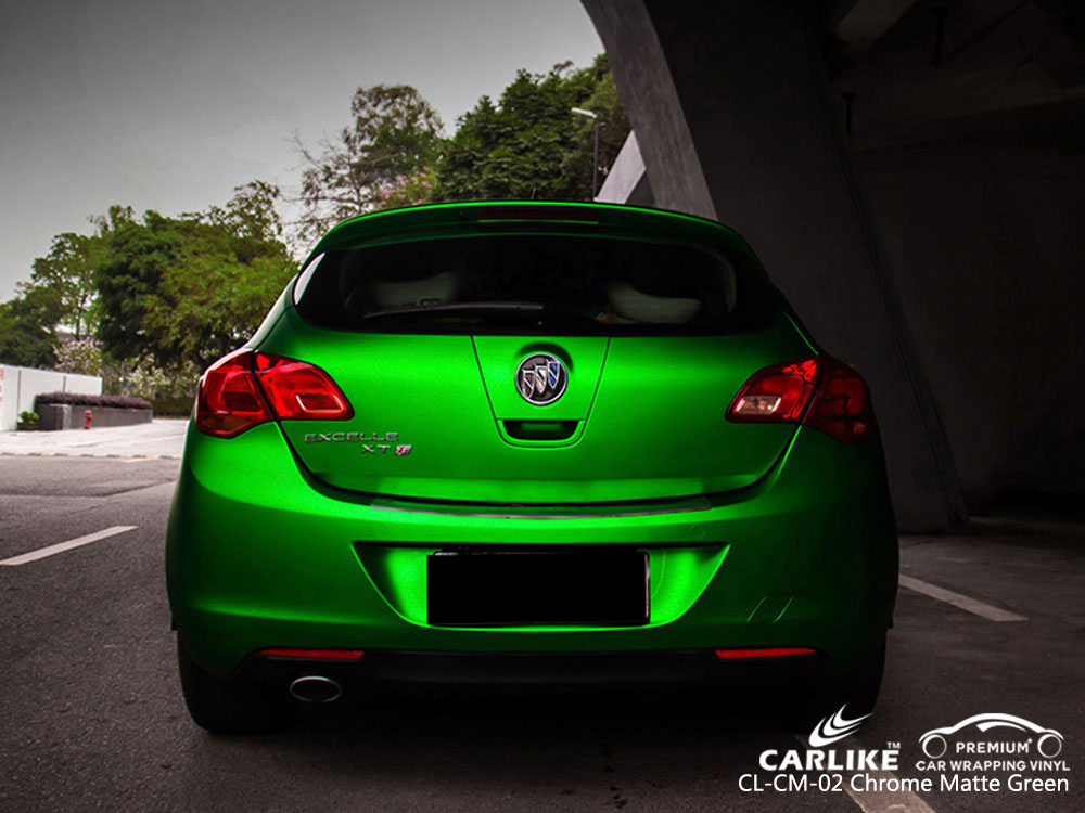CARLIKE CL-CM-02 CHROME MATTE GREEN VINYL