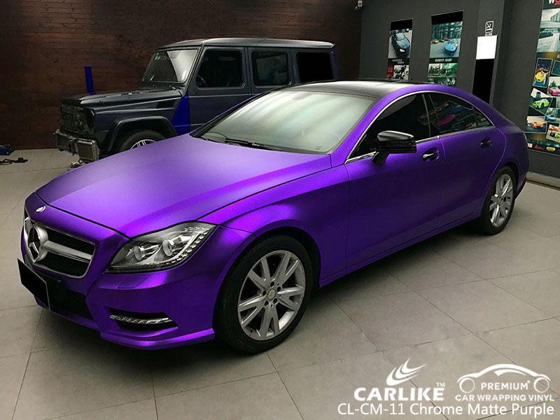 Carlike Cl Cm 11 Chrome Matte Purple Car Wrap Vinyl For