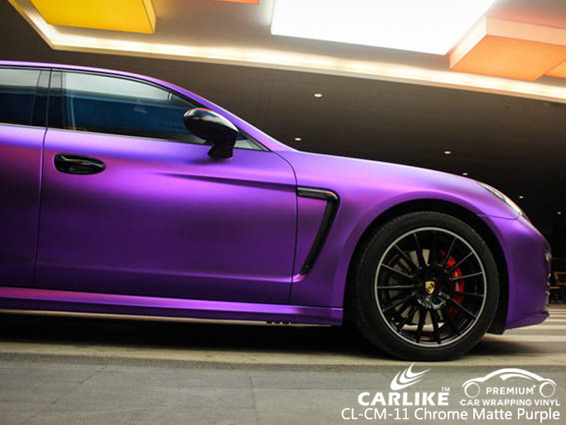 CARLIKE CL-CM-11 CHROME MATTE PURPLE CAR WRAP VINYL