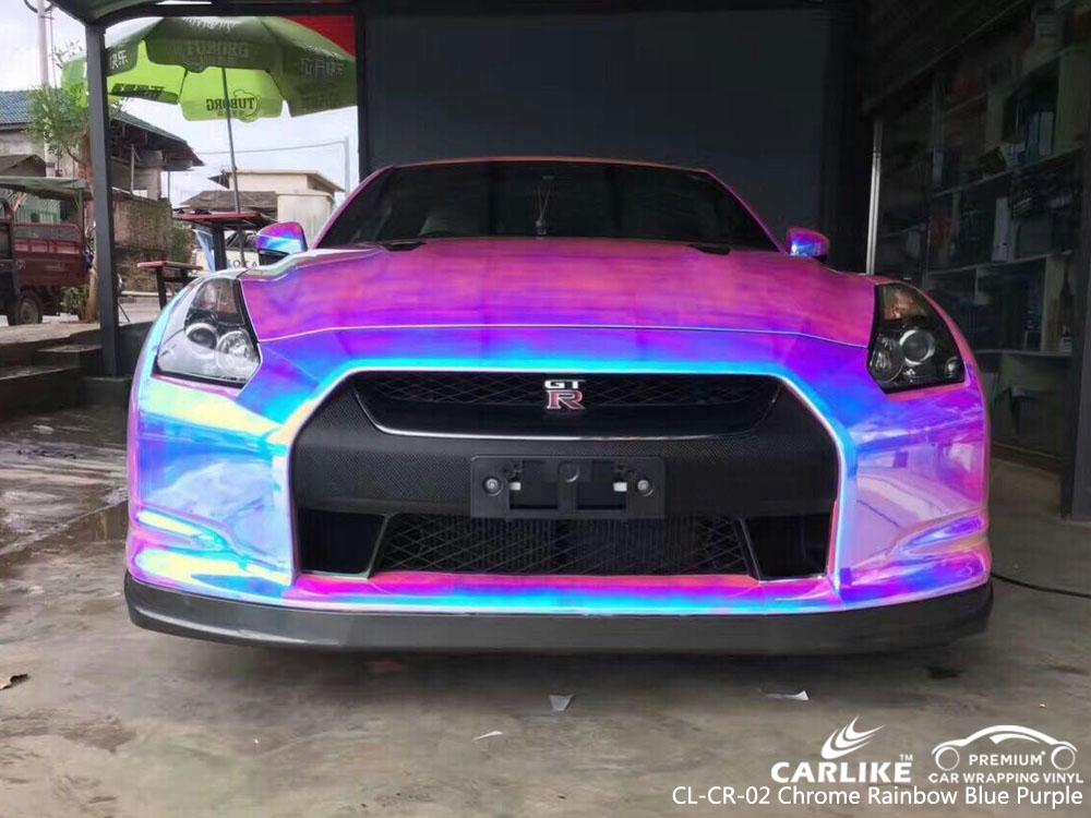 Cl Cr 02 Chrome Rainbow Blue Purple Car Wrap Vinyl For