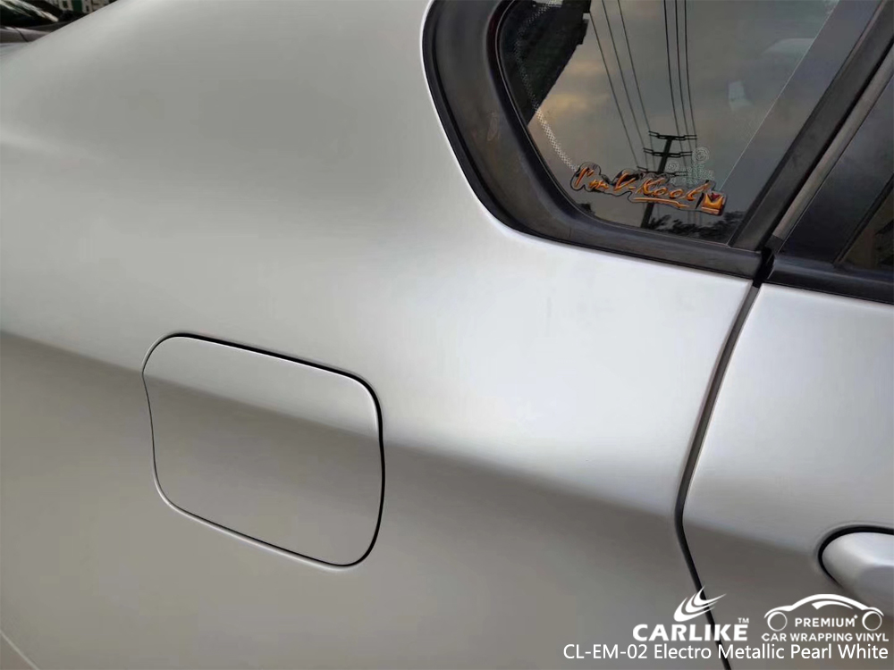 CARLIKE CL-EM-02 PEARL WHITE MATTE ELECTRO METALLIC VINYL FOR BMW