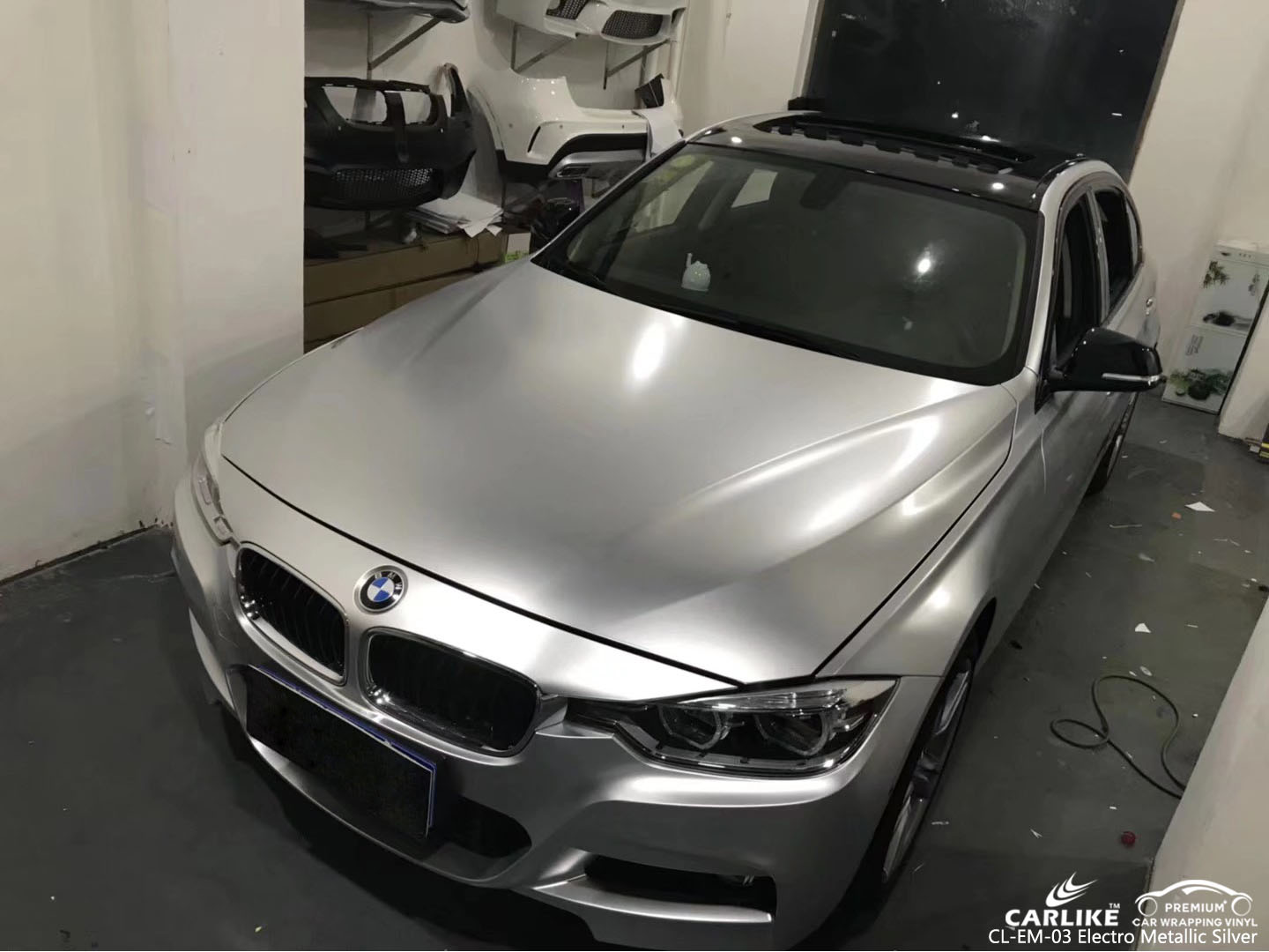 CARLIKE CL-EM-03 SILVER MATTE ELECTRO METALLIC VINYL FOR BMW