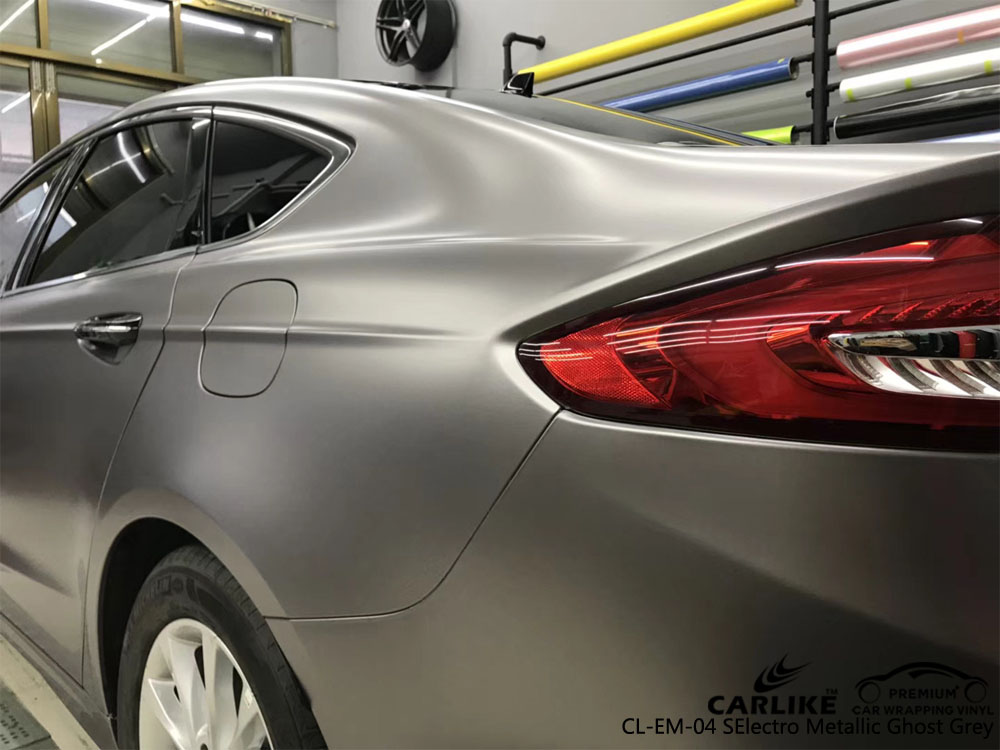 CARLIKE CL-EM-04 ELECTRO METALLIC GHOST GREY CAR WRAP VINYL