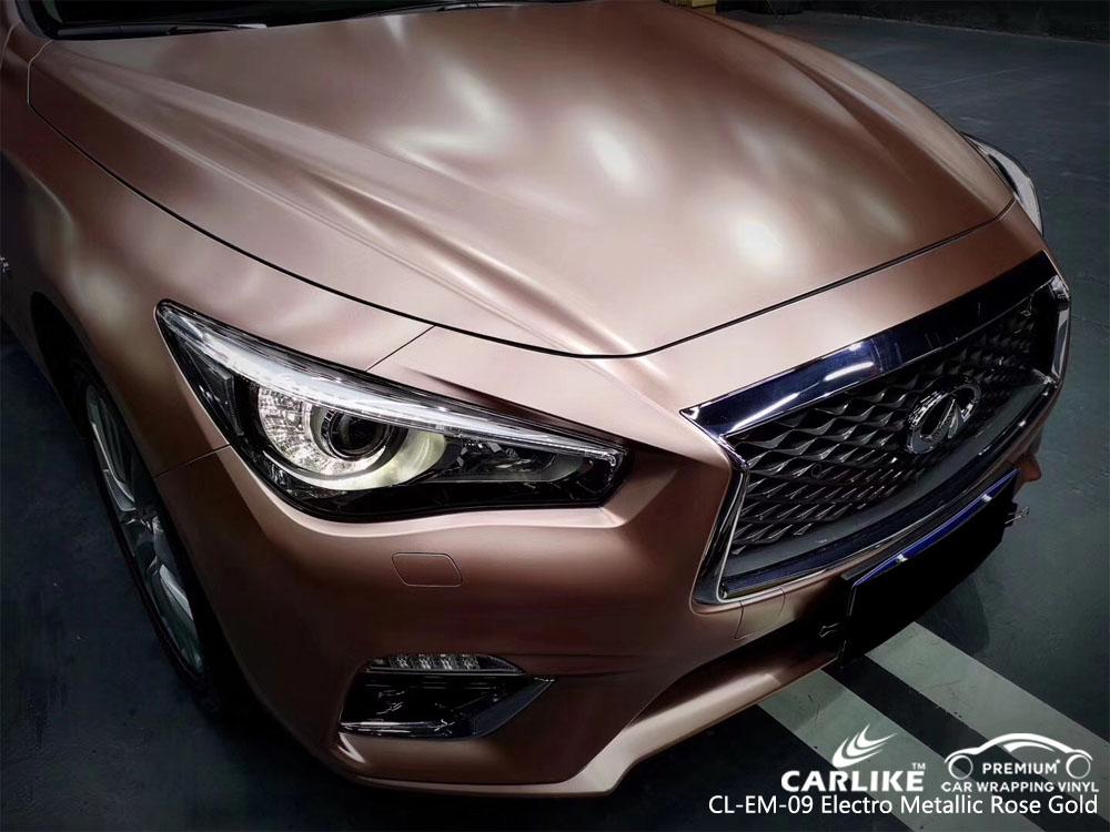 CARLIKE CL-EM-09 ELECTRO METALLIC ROSE GOLD CAR WRAP VINYL