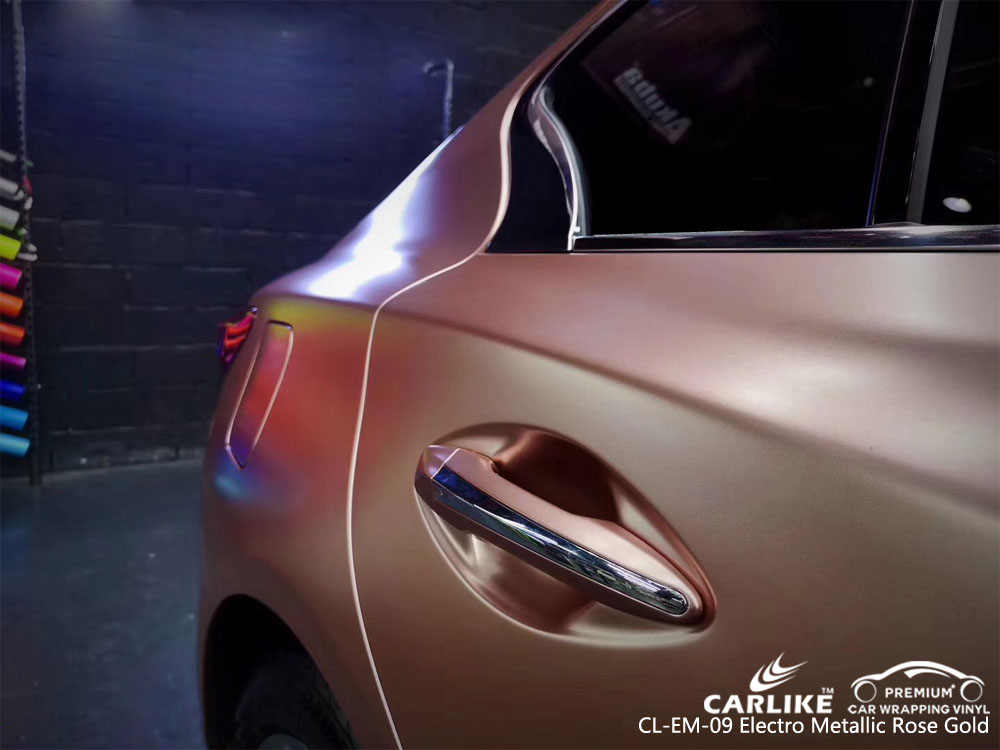 CARLIKE CL-EM-09 ELECTRO METALLIC ROSE GOLD CAR WRAP VINYL