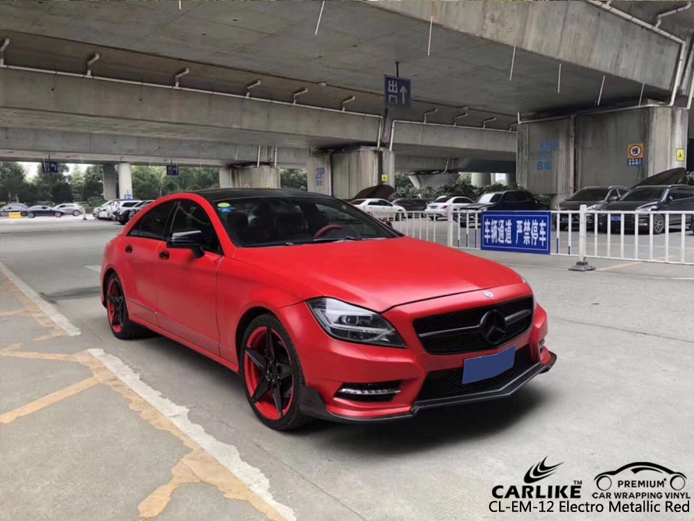 CARLIKE CL-ME-12 ELECTRO METALLIC RED CAR WRAP VINYL