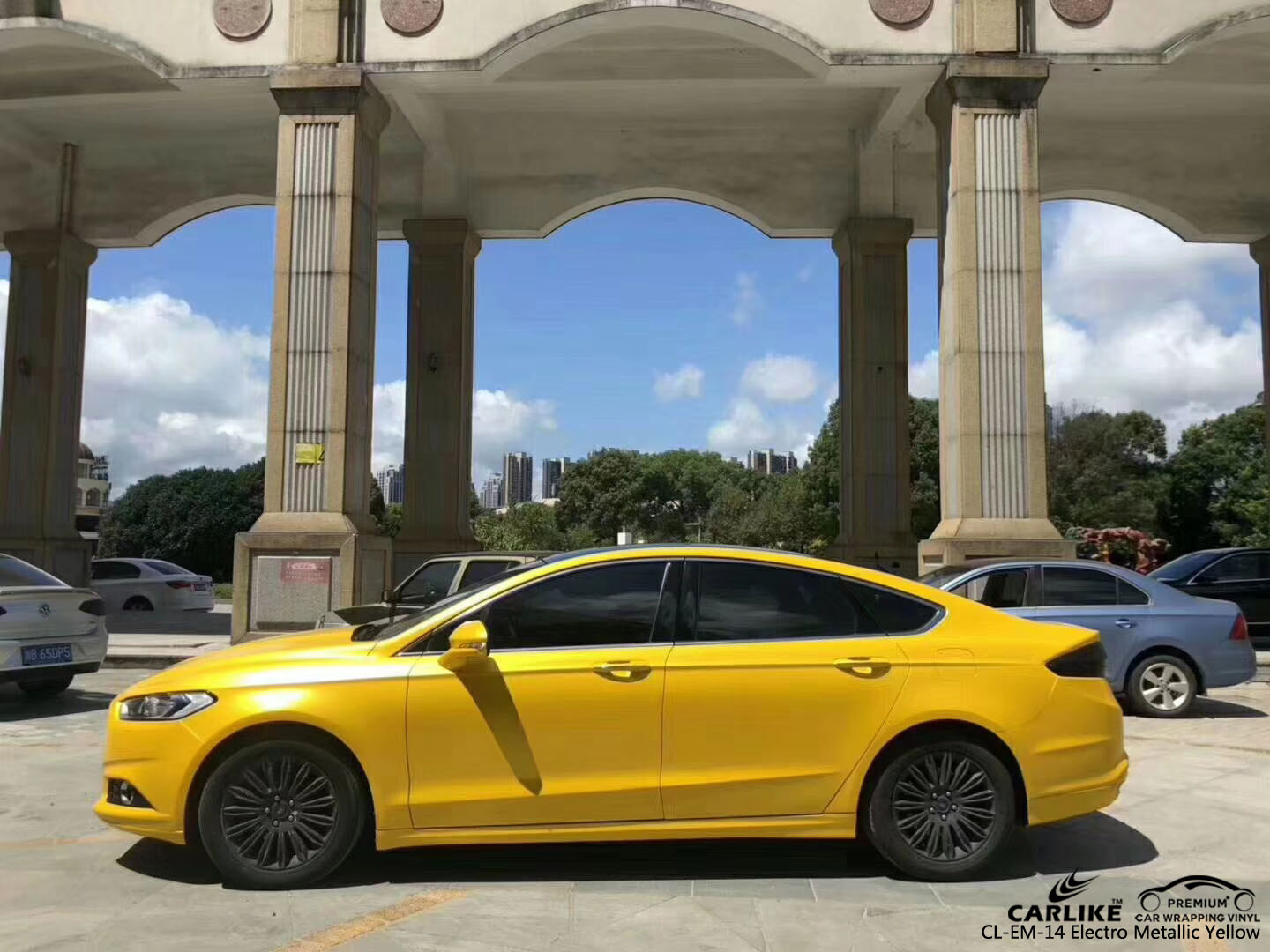 CARLIKE CL-EM-14 ELECTRO METALLIC YELLOW VINYL FOR FORD