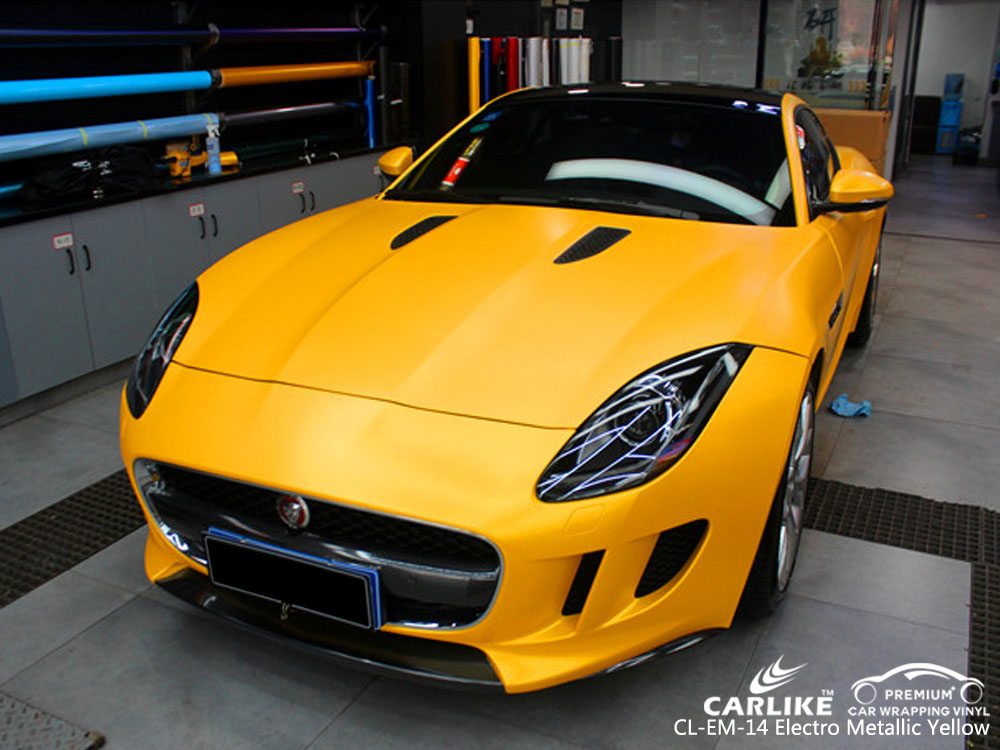 CARLIKE CL-EM-14 ELECTRO METALLIC YELLOW CAR WRAP VINYL