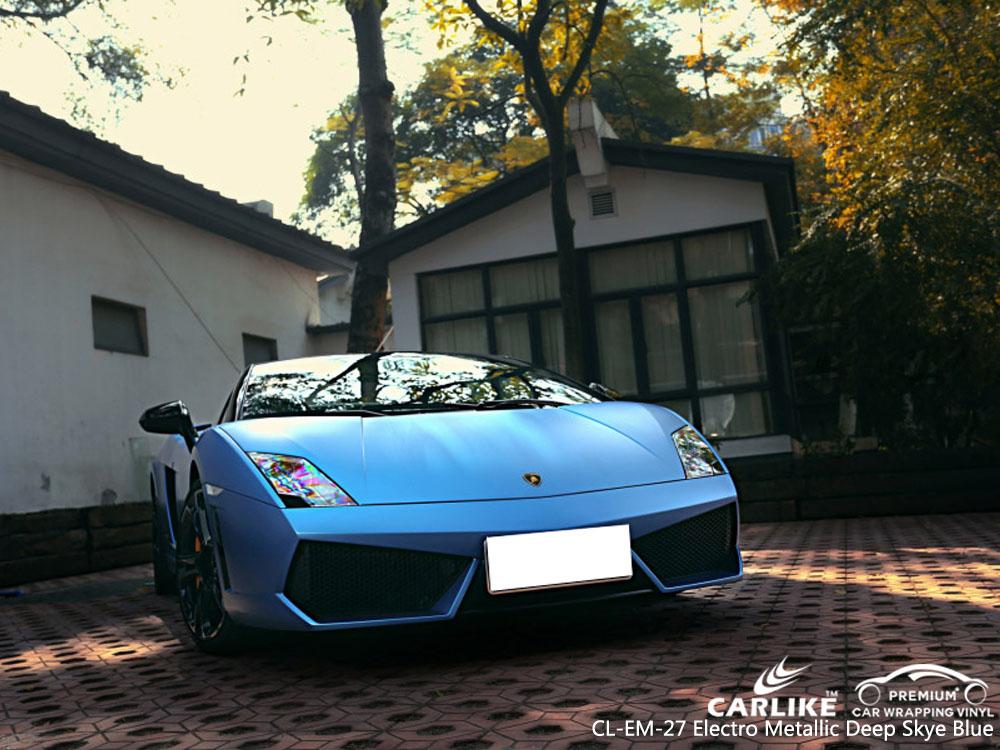 CARILIKE CL-EM-27 Vinilo del abrigo del coche de Electro Metallic Deep Sky Blue para Lamborghini